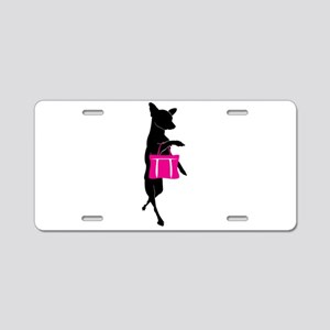 Silhouette of Chihuahua Goi Aluminum License Plate