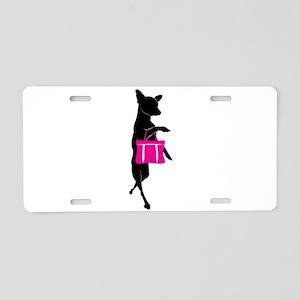 Silhouette of Chihuahua Goi Aluminum License Plate