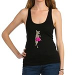 Silhouette of Chihuahua Going S Racerback Tank Top