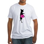 Silhouette of Chihuahua Going Shopp Fitted T-Shirt
