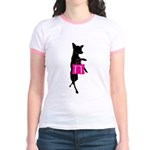 Silhouette of Chihuahua Going S Jr. Ringer T-Shirt