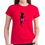 Silhouette of Chihuahua Going Women's Dark T-Shirt