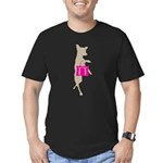 Silhouette of Chihuahu Men's Fitted T-Shirt (dark)