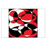 Black, white and Red Ellipticals Posters