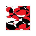 Black, white and Red Ellipticals Sticker