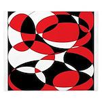 Black, white and Red Ellipticals King Duvet