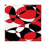 Black, white and Red Ellipticals Queen Duvet