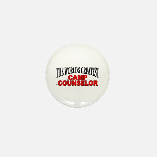 """""""The World's Greatest Camp Counselor"""" Mini Button"""