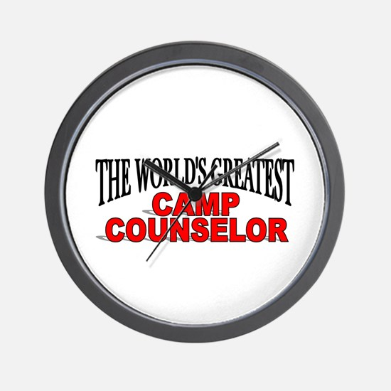 """""""The World's Greatest Camp Counselor"""" Wall Clock"""