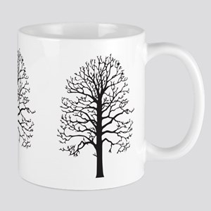 Sycamore Trees Silhouette Mugs