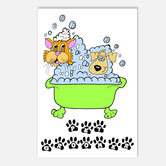 Pet Groomer Postcards (Package of 8)