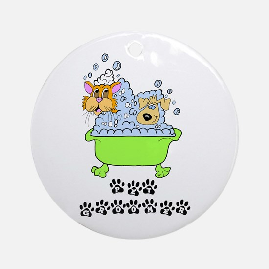 Pet Groomer Ornament (Round)