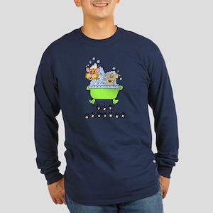 Pet Groomer Long Sleeve Dark T-Shirt