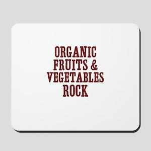 organic fruits & vegetables r Mousepad