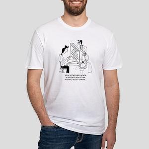 Spirometer Cartoon 7314 Fitted T-Shirt