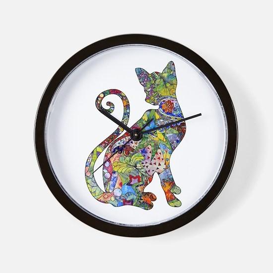 Cute Cat art Wall Clock