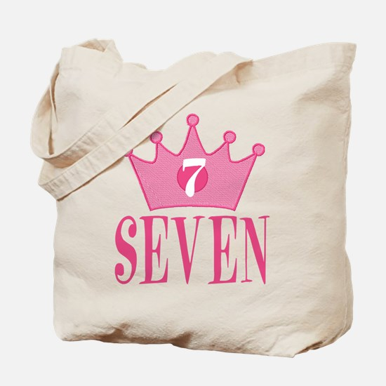 Seven- 7th Birthday - Princess Birthday Party Tote