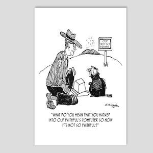 Beaver Cartoon 1640 Postcards (Package of 8)