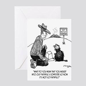 Beaver Cartoon 1640 Greeting Card