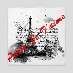 Paris, Je T'aime Queen Duvet
