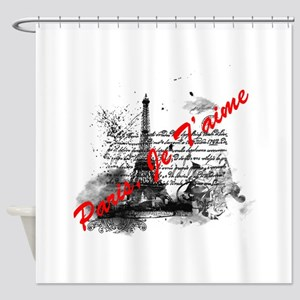 Paris, Je T'aime Shower Curtain