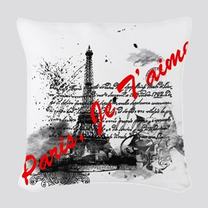 Paris, Je T'aime Woven Throw Pillow