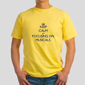Keep Calm by focusing on Musicals T-Shirt