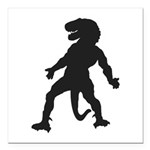 Trex Man Square Car Magnet 3
