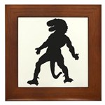 Trex Man Framed Tile