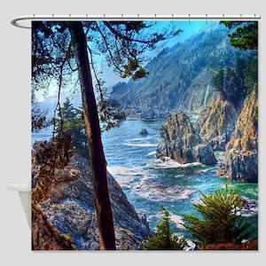 Rock Cove Seascape Shower Curtain