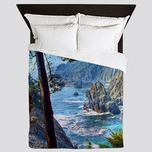 Rock Cove Seascape Queen Duvet