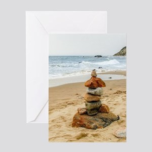 Block Island Cairns Greeting Cards