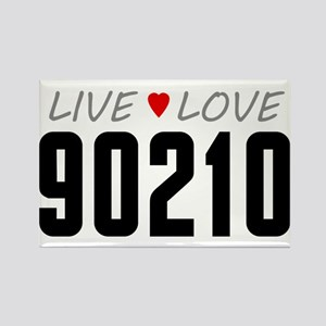 Live Love 90210 Rectangle Magnet