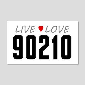 Live Love 90210 22x14 Wall Peel