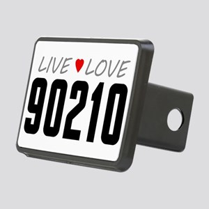 Live Love 90210 Rectangular Hitch Cover