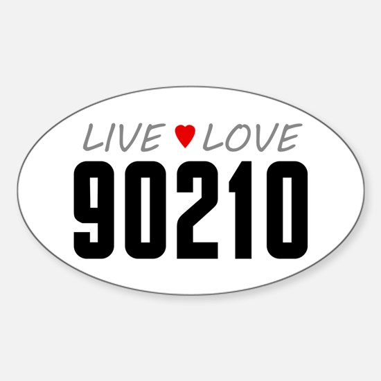 Live Love 90210 Oval Decal