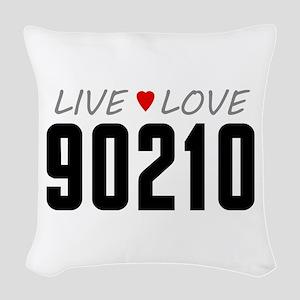 Live Love 90210 Woven Throw Pillow