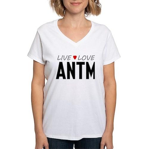 Live Love ANTM Women's V-Neck T-Shirt