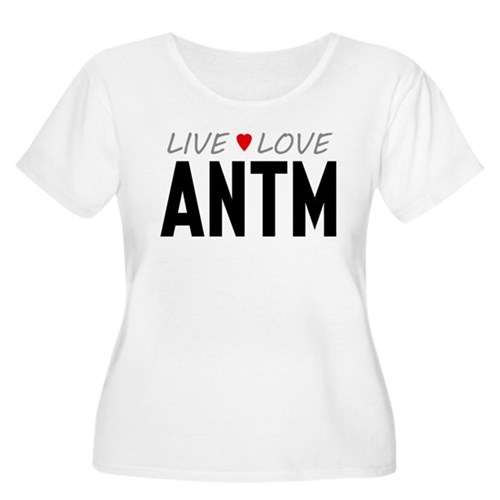 Live Love ANTM Women's Plus Size Scoop Neck T-Shir