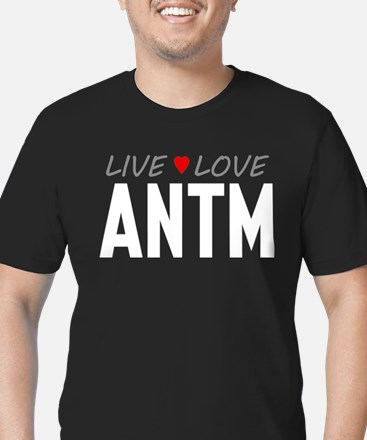 Live Love ANTM Men's Dark Fitted T-Shirt