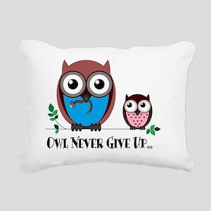 Owl Never Give Up (Dysau Rectangular Canvas Pillow