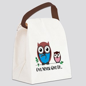 Owl Never Give Up (Dysautonomia) Canvas Lunch Bag