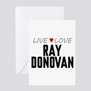 Live Love Ray Donovan Greeting Card