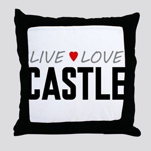 Live Love Castle Throw Pillow