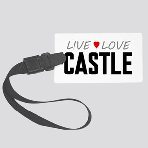Live Love Castle Large Luggage Tag