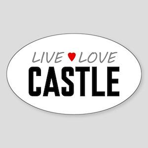 Live Love Castle Oval Sticker