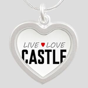 Live Love Castle Silver Heart Necklace