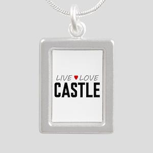 Live Love Castle Silver Portrait Necklace