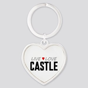 Live Love Castle Heart Keychain