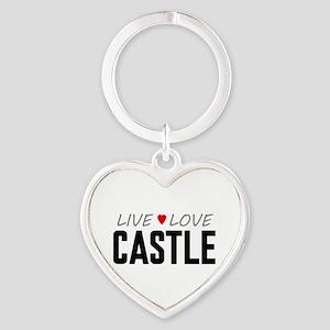 Live Love Castle Heart Keychain